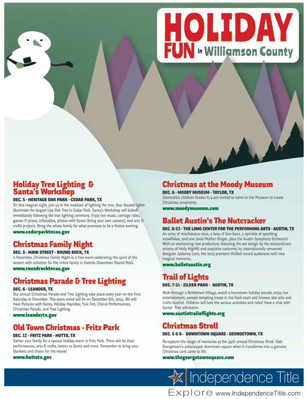 Holiday Fun in Williamson County